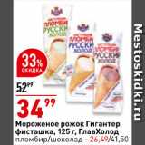 Магазин:Окей супермаркет,Скидка:Мороженое Гигантер пломбир/шоколад