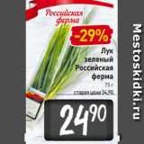 Магазин:Билла,Скидка:Лук зеленый Российская ферма 75