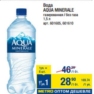 Акция - Вода AQUA MINERALE