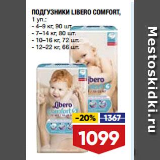 Акция - ПОДГУЗНИКИ LIBERO COMFORT