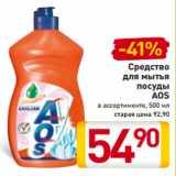Скидка: Средство для мытья посуды AOS в ассортименте, 500 мл