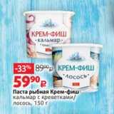 Магазин:Виктория,Скидка:Паста рыбная Крем-фиш кальмар с креветками/ лосось, 150 г