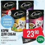 Скидка: Корм для собак Cesar
