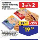 Магазин:Лента супермаркет,Скидка:КОНВЕРТИК МАСТЕР ПИРОГОВЪ ВЕНСКИЙ