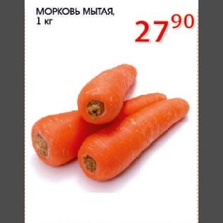 Акция - Морковь мытая