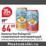 Скидка: Напиток San Pellegrino газированный сокосодержащий, апельсин/красный апельсин