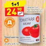 Магазин:Дикси,Скидка:Томатная паста Д 25-28%