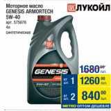Метро Акции - Моторное масло GENESIS ARMORTECH 5W-40