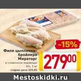 Магазин:Билла,Скидка:Филе цыпленка-бройлера Мираторг
