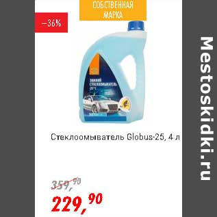 Акция - Стеклоомыватель Globus-25