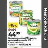 Магазин:Окей супермаркет,Скидка:Горошек зеленый Кукуруза молодая Вonduelle