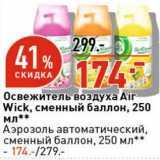 Магазин:Окей супермаркет,Скидка:Освежитель воздуха Air Wick сменный баллон 250 мл - 174,00 руб / Аэрозоль автоматический сменный баллон 250 мл - 174,00 руб
