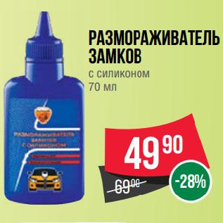 Акция - Размораживатель  Замков  с силиконом