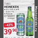 Магазин:Selgros,Скидка:ПИВО HEINEKEN