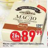 Скидка: Масло сладко-сливочное Брест-Литовск 82,5%