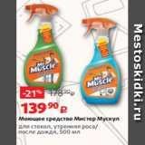 Скидка: Моющее средство Мистер Мускул для стекол, утренняя роса/ после дождя, 500 мл