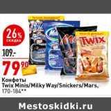 Конфеты Twix Minis / Milky Way / Snickers / Mars
