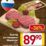 Магазин:Билла,Скидка:Бургер из говядины Мираторг