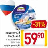 Магазин:Билла,Скидка:Сыр плавленый Hochland 55%