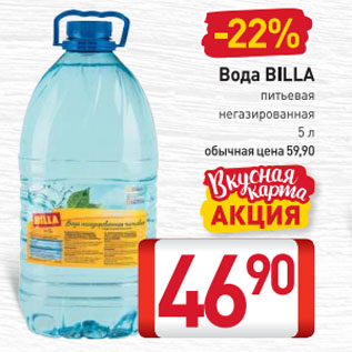 Акция - Вода BILLA