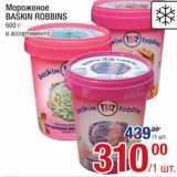 Метро Акции - Мороженое Baskin Robbins